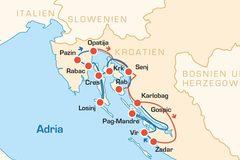 Reisen und Touren: Kroatien - Kreuzfahrt auf 2 Rädern