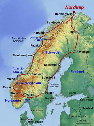 Nordkap Selbstfahrer Gruppen Reise Motourismo