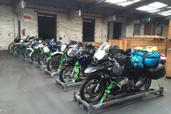 Motorrad-Transport: Motorradtransport nach Alaska, Luftfracht